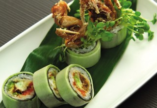 Green spider roll by Chef Cho Venevongsa of Wasabi On Broadway