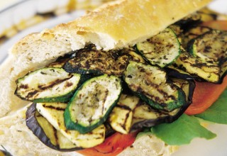 Grilled Vegetable Sandwich by Chef Gary Patson and Sous Chef Mac Nurse, Maxime Restaurant