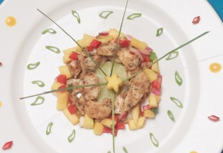 Thai mango pickerel cheeks by Chef Marie Caldwell, Star Grill