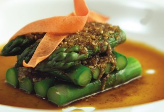 Asparagus Goma Ae by Chef Cho Venevongsa, Wasabi On Broadway
