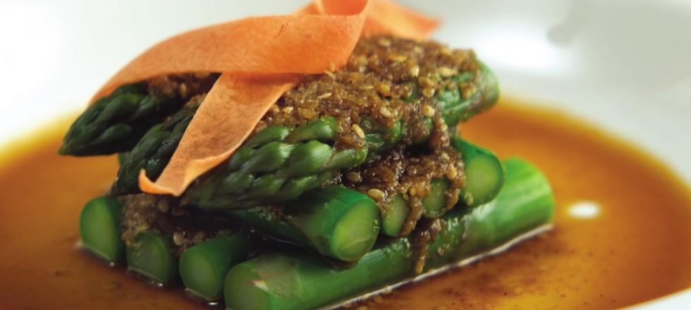Asparagus Goma Ae by Chef Cho Venevongsa, Wasabi On Broadway
