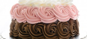 Piped Rosette Cake - Cake-ology Winnipeg