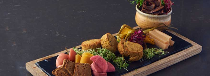 Baked Falafel Board and Beef Chips