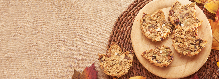 Granola Leaf Cookies