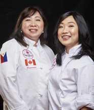 Chefs Genevieve and Nikki Melegrito