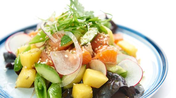 Organic Salmon Poke Salad