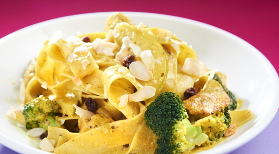 Curry Cream Pappardelle