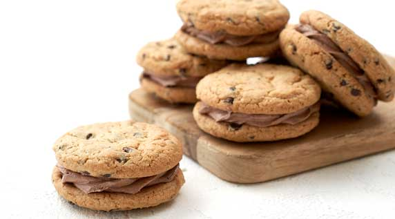 Tahini Chocolate Chip Cookie Sandwiches